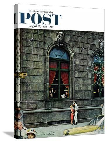 """University Club"" Saturday Evening Post Cover, August 27,1960-Norman Rockwell-Stretched Canvas Print"