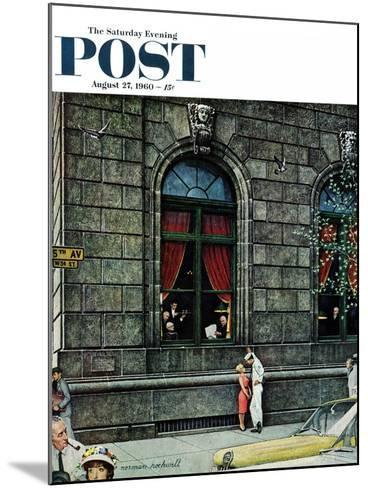"""University Club"" Saturday Evening Post Cover, August 27,1960-Norman Rockwell-Mounted Giclee Print"
