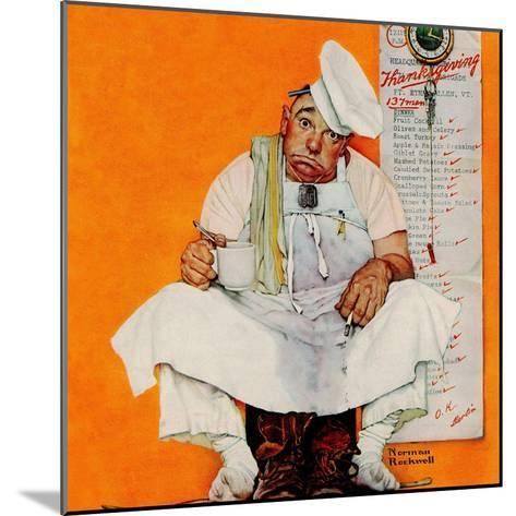 """""""Thanksgiving Day Blues"""", November 28,1942-Norman Rockwell-Mounted Giclee Print"""