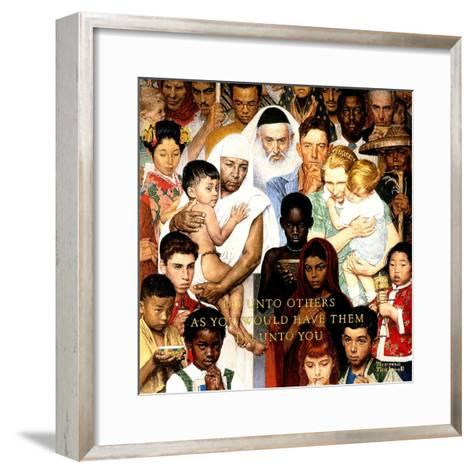 """Golden Rule"" (Do unto others), April 1,1961-Norman Rockwell-Framed Art Print"