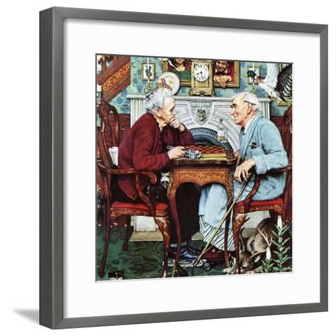 """April Fool, 1943"", April 3,1943-Norman Rockwell-Framed Art Print"