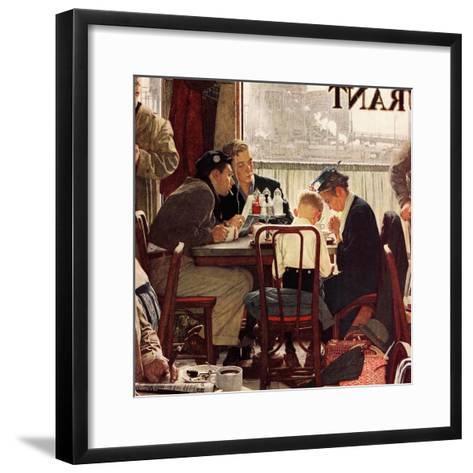 """""""Saying Grace"""", November 24,1951-Norman Rockwell-Framed Art Print"""