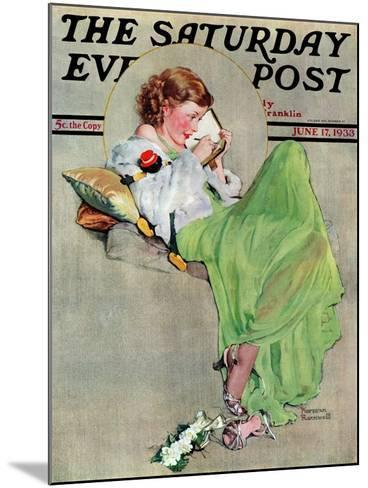 """""""Diary"""" Saturday Evening Post Cover, June 17,1933-Norman Rockwell-Mounted Giclee Print"""