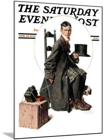 """""""Boy Taking His Self-Portrait"""" Saturday Evening Post Cover, April 18,1925-Norman Rockwell-Mounted Giclee Print"""