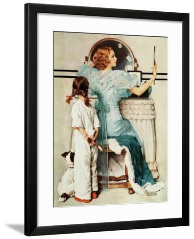 """Going Out"", October 21,1933-Norman Rockwell-Framed Art Print"