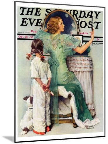 """""""Going Out"""" Saturday Evening Post Cover, October 21,1933-Norman Rockwell-Mounted Giclee Print"""