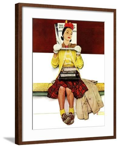 """Cover Girl"", March 1,1941-Norman Rockwell-Framed Art Print"
