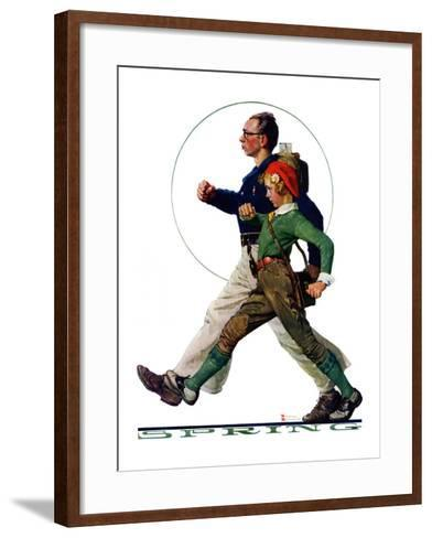 """""""Hikers"""", May 5,1928-Norman Rockwell-Framed Art Print"""