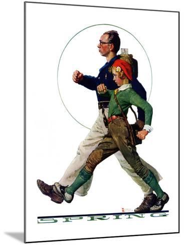 """""""Hikers"""", May 5,1928-Norman Rockwell-Mounted Giclee Print"""