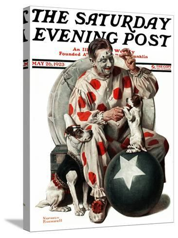 """""""Between the Acts"""" Saturday Evening Post Cover, May 26,1923-Norman Rockwell-Stretched Canvas Print"""