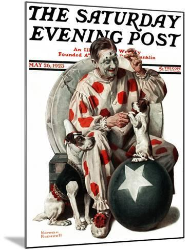 """""""Between the Acts"""" Saturday Evening Post Cover, May 26,1923-Norman Rockwell-Mounted Giclee Print"""