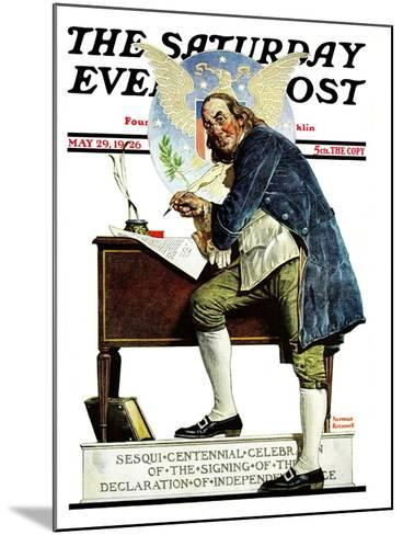 """Independence"" or ""Ben Franklin"" Saturday Evening Post Cover, May 29,1926-Norman Rockwell-Mounted Giclee Print"