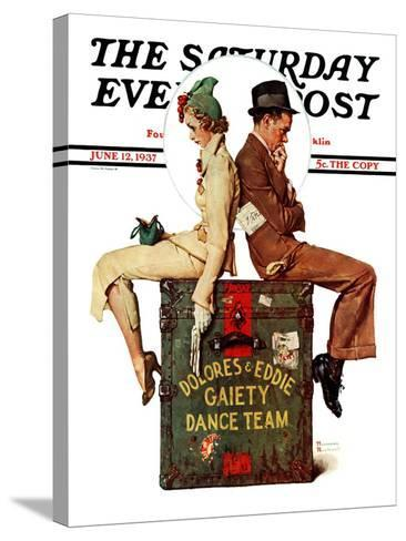 """Gaiety Dance Team"" Saturday Evening Post Cover, June 12,1937-Norman Rockwell-Stretched Canvas Print"