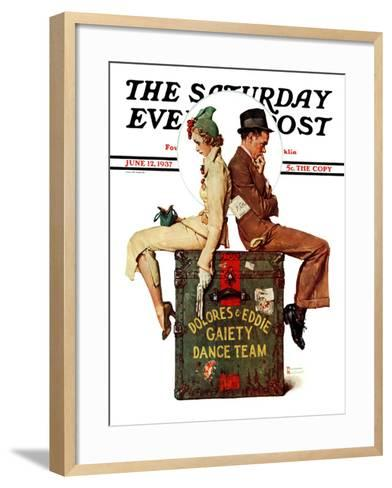 """Gaiety Dance Team"" Saturday Evening Post Cover, June 12,1937-Norman Rockwell-Framed Art Print"
