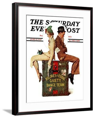 """""""Gaiety Dance Team"""" Saturday Evening Post Cover, June 12,1937-Norman Rockwell-Framed Art Print"""