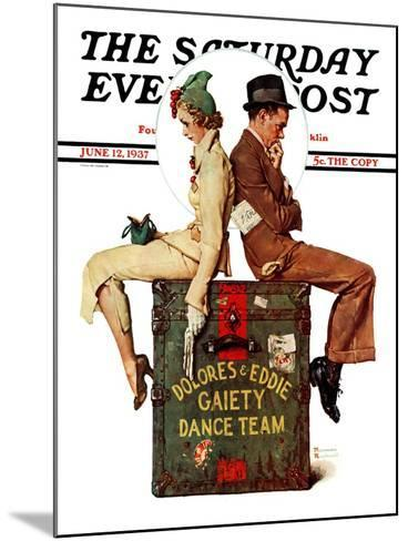 """Gaiety Dance Team"" Saturday Evening Post Cover, June 12,1937-Norman Rockwell-Mounted Giclee Print"