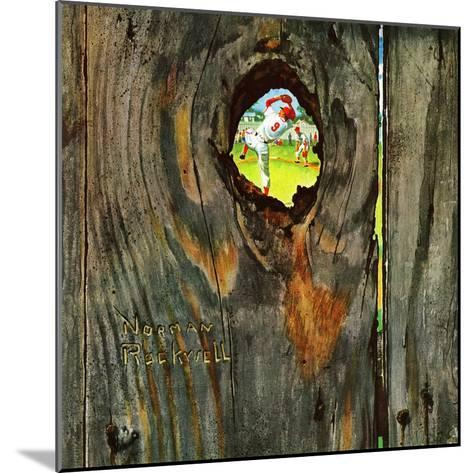 """""""Knothole Baseball"""", August 30,1958-Norman Rockwell-Mounted Giclee Print"""