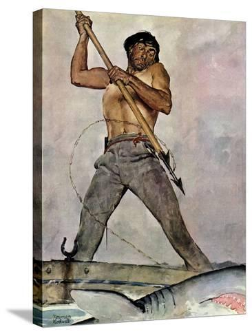 """""""Man-Killer"""", January 27,1940-Norman Rockwell-Stretched Canvas Print"""