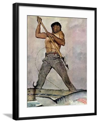 """""""Man-Killer"""", January 27,1940-Norman Rockwell-Framed Art Print"""