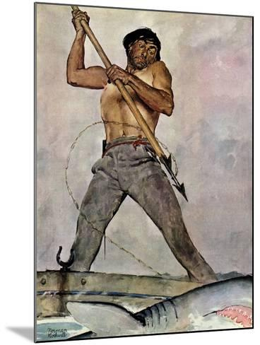 """Man-Killer"", January 27,1940-Norman Rockwell-Mounted Giclee Print"
