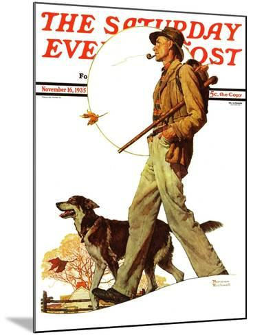 """""""Autumn Stroll"""" Saturday Evening Post Cover, November 16,1935-Norman Rockwell-Mounted Giclee Print"""