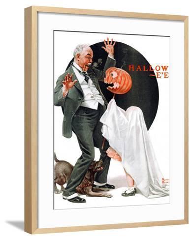 """Halloween"", October 23,1920-Norman Rockwell-Framed Art Print"