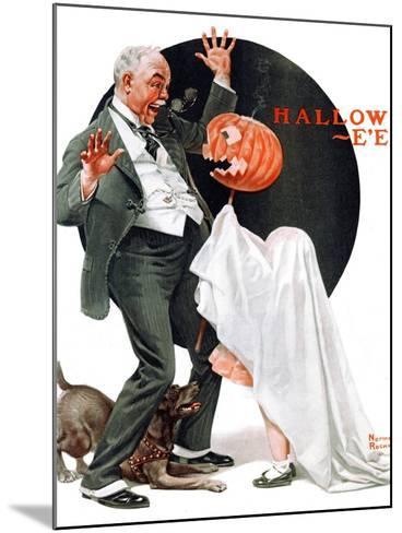 """Halloween"", October 23,1920-Norman Rockwell-Mounted Giclee Print"