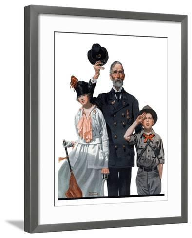 """""""Salute to Colors"""", May 12,1917-Norman Rockwell-Framed Art Print"""