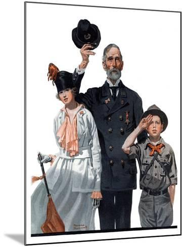 """""""Salute to Colors"""", May 12,1917-Norman Rockwell-Mounted Giclee Print"""