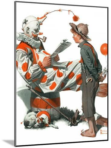 """""""Circus"""" or """"Meeting the Clown"""", May 18,1918-Norman Rockwell-Mounted Giclee Print"""