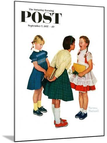 """""""Missing tooth"""" Saturday Evening Post Cover, September 7,1957-Norman Rockwell-Mounted Giclee Print"""