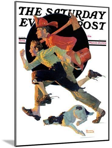 """""""To the Rescue"""" Saturday Evening Post Cover, March 28,1931-Norman Rockwell-Mounted Giclee Print"""