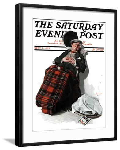 """Ocean Voyage"" Saturday Evening Post Cover, September 8,1923-Norman Rockwell-Framed Art Print"