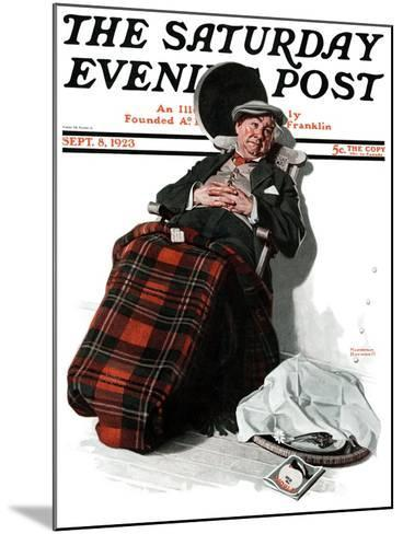 """Ocean Voyage"" Saturday Evening Post Cover, September 8,1923-Norman Rockwell-Mounted Giclee Print"