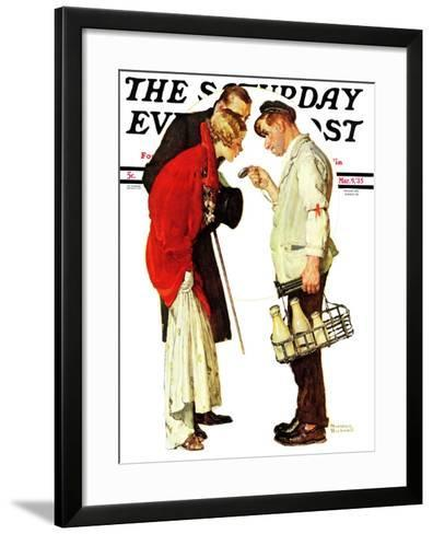"""""""Partygoers"""" Saturday Evening Post Cover, March 9,1935-Norman Rockwell-Framed Art Print"""