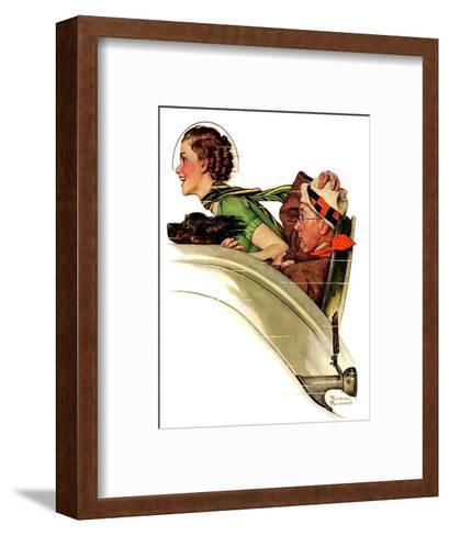 """Exhilaration"", July 13,1935-Norman Rockwell-Framed Art Print"
