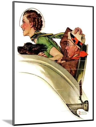 """""""Exhilaration"""", July 13,1935-Norman Rockwell-Mounted Giclee Print"""