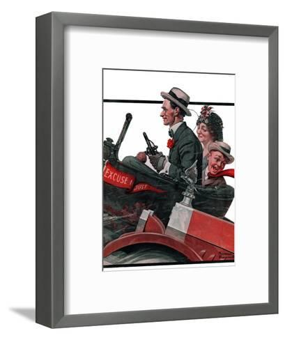 """""""Excuse My Dust"""", July 31,1920-Norman Rockwell-Framed Art Print"""