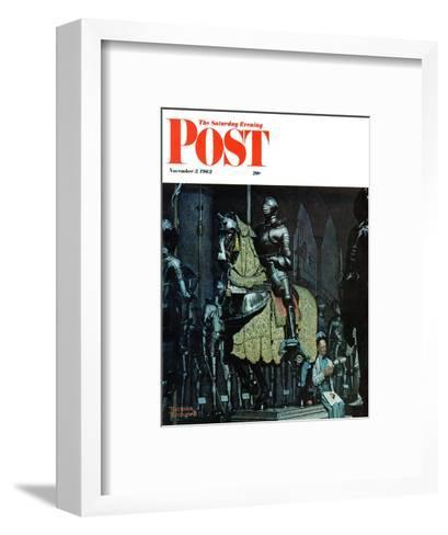 """Armor"" Saturday Evening Post Cover, November 3,1962-Norman Rockwell-Framed Art Print"