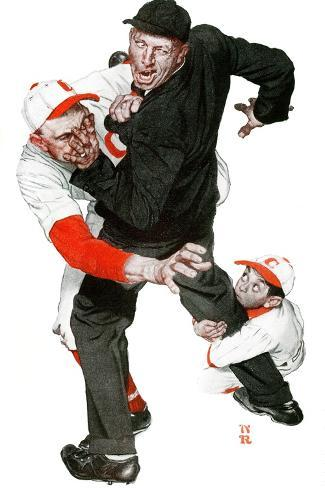 """""""You Could Look It Up"""" page 10, April 5,1941-Norman Rockwell-Stretched Canvas Print"""