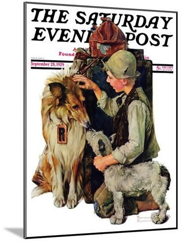 """Making Friends"" or ""Raleigh Rockwell"" Saturday Evening Post Cover, September 28,1929-Norman Rockwell-Mounted Giclee Print"