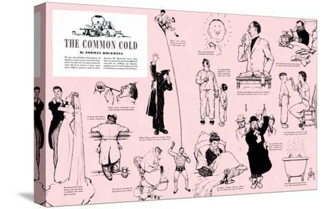 """""""The Common Cold"""", January 27,1945-Norman Rockwell-Stretched Canvas Print"""
