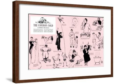 """""""The Common Cold"""", January 27,1945-Norman Rockwell-Framed Art Print"""