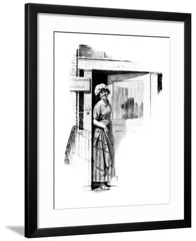 """""""A Love Story"""" page 9-Norman Rockwell-Framed Art Print"""