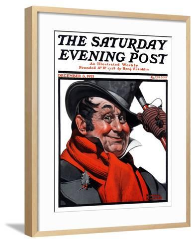 """Merrie Christmas"" Saturday Evening Post Cover, December 3,1921-Norman Rockwell-Framed Art Print"