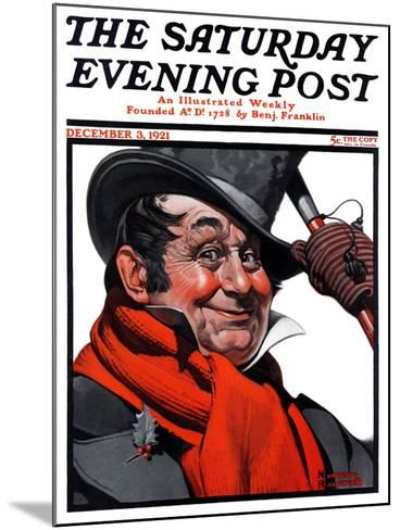 """Merrie Christmas"" Saturday Evening Post Cover, December 3,1921-Norman Rockwell-Mounted Giclee Print"