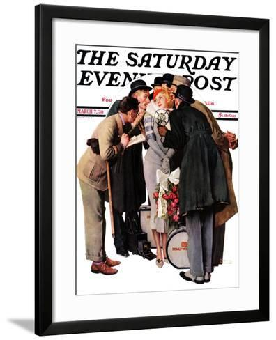 """Hollywood Starlet"" Saturday Evening Post Cover, March 7,1936-Norman Rockwell-Framed Art Print"