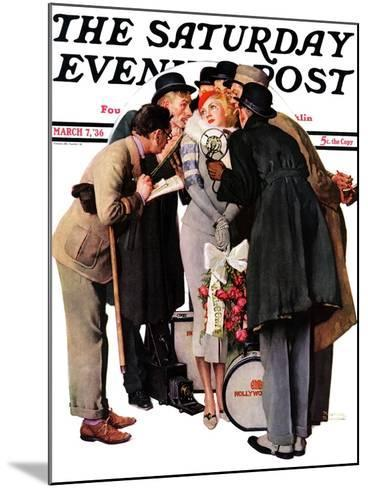 """Hollywood Starlet"" Saturday Evening Post Cover, March 7,1936-Norman Rockwell-Mounted Giclee Print"