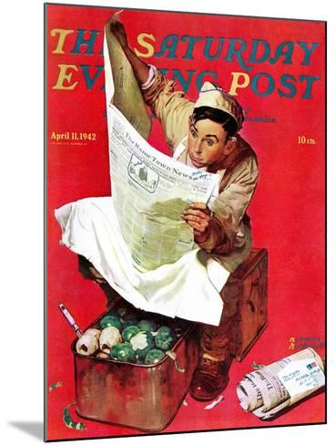 """""""Willie Gillis on K.P"""" Saturday Evening Post Cover, April 11,1942-Norman Rockwell-Mounted Giclee Print"""