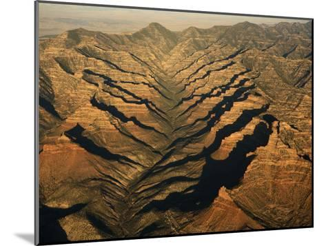 Aerials of Mountainous Ridges in Range Creek, Utah-Ira Block-Mounted Photographic Print